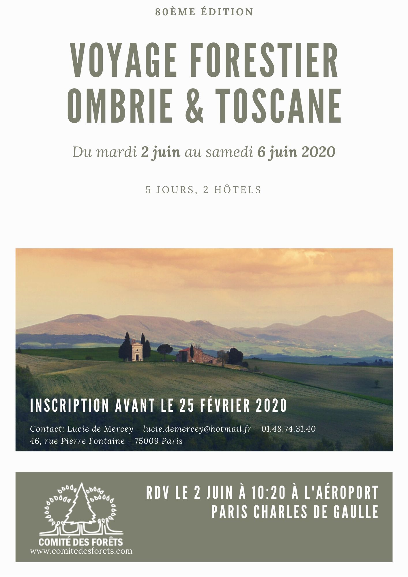 Comité des Forêts - Invitation voyage Italie 2020